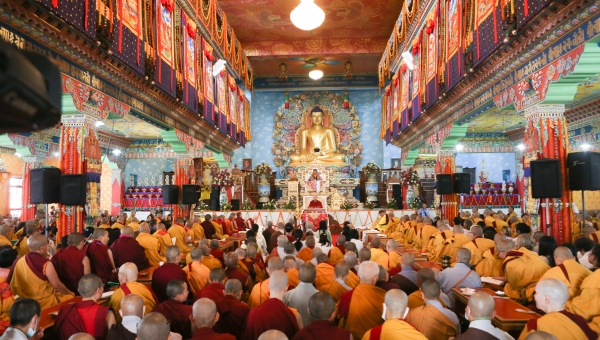 The Arya Kshema Winter Gathering for Nuns Begins in Bodhgaya